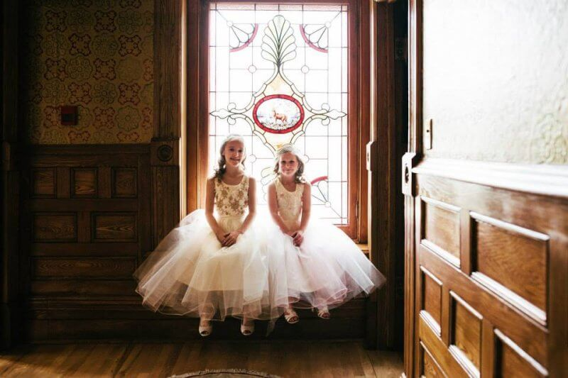 Flower girls, all ready to go!