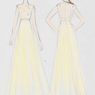 Rose Gold Boho Wedding Gown Breeyn Mccarney