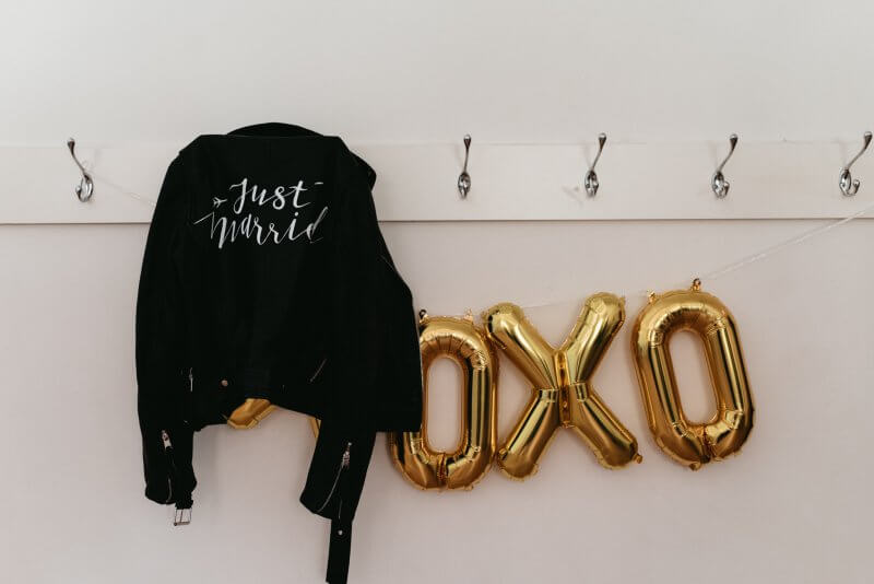 The Just Married Jacket (#thejustmarriedjacket) by Via Calligraphy.