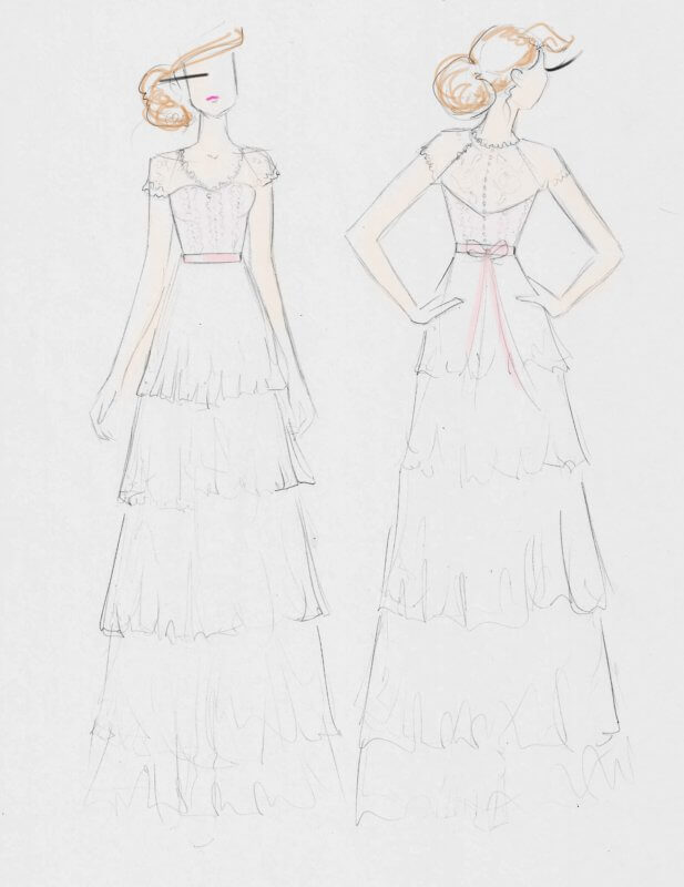 Sketch concept used for Karly's dress.