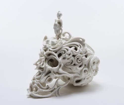 ceramic skull by Katsuyo Aoki