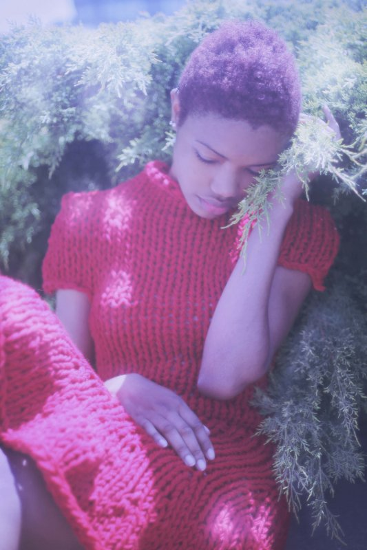 Photo by Natalie Kucken, hand-knit dress by Breeyn McCarney