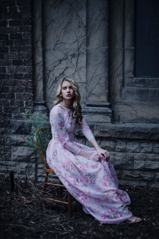 Photo by Sandy Pranjic, floral gown by Breeyn McCarney