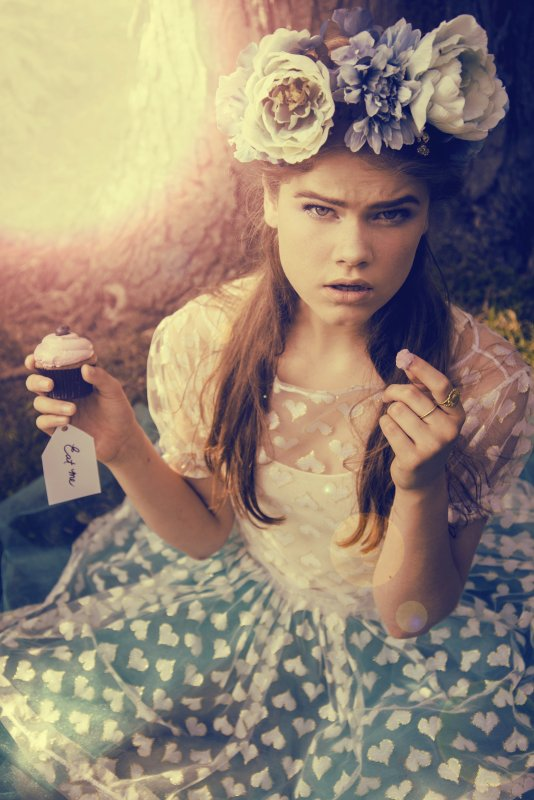 Photo by Olga Kozitska, flower crown by Lady Hayes, heart dress by Breeyn McCarney