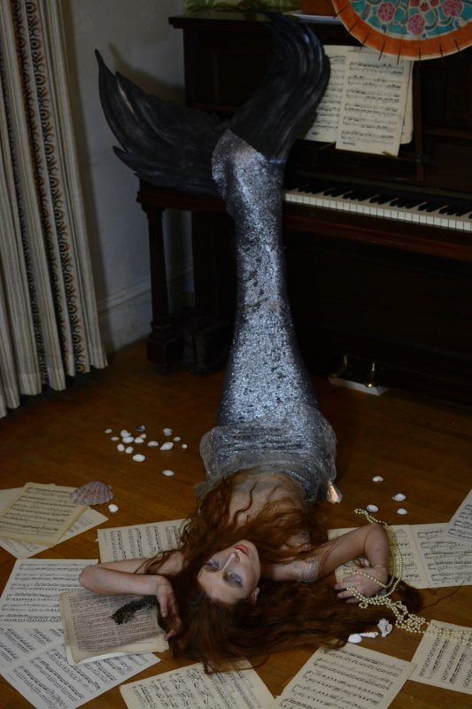 Photo by Mouna Tahar, sequin dress and tail by Breeyn McCarney