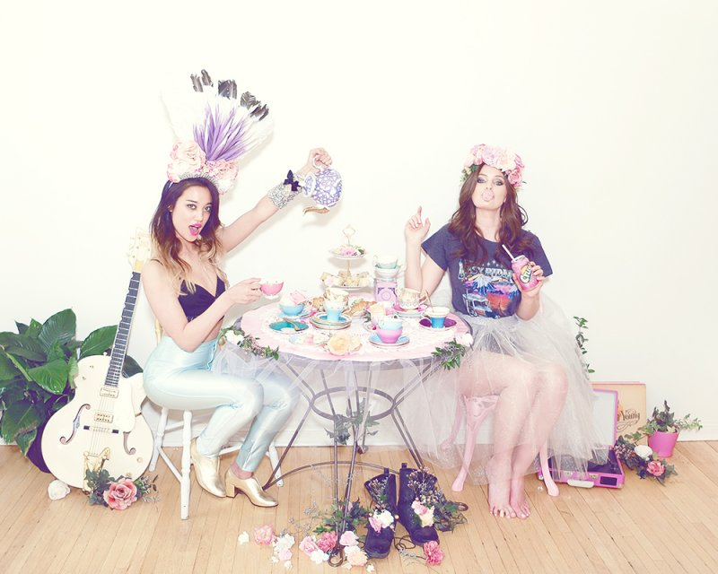 Photo and flower crowns by Lady Hayes, lingerie by Fortnight, tulle skirt by Breeyn McCarney