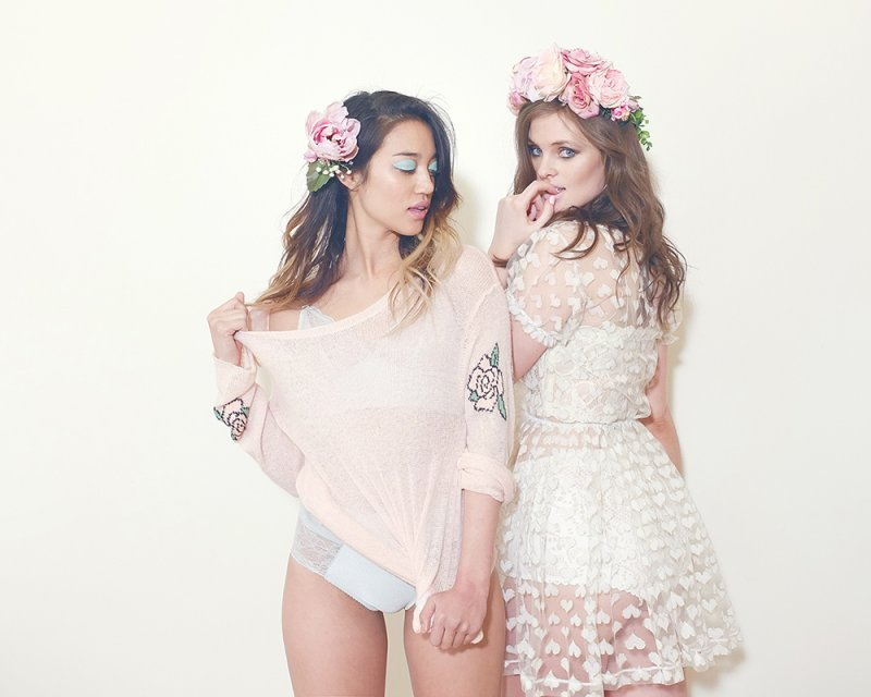 Photo and flower crown by Lady Hayes, lingerie by Fortnight, heart dress by Breeyn McCarney