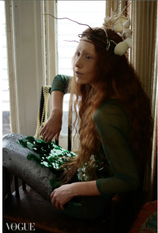Photo by Mouna Tahar, sequin dress, crown and tail by Breeyn McCarney