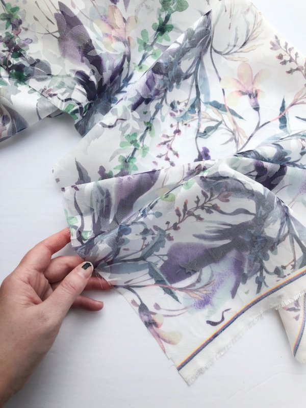 Watercolour print fabric