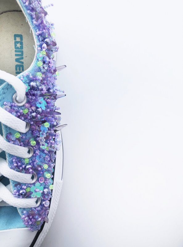 Converse All-Stars embellished with beads and sequins